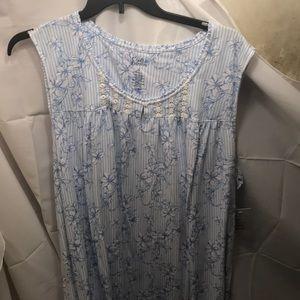 NWT sz 4x blue floral LONG nightgown